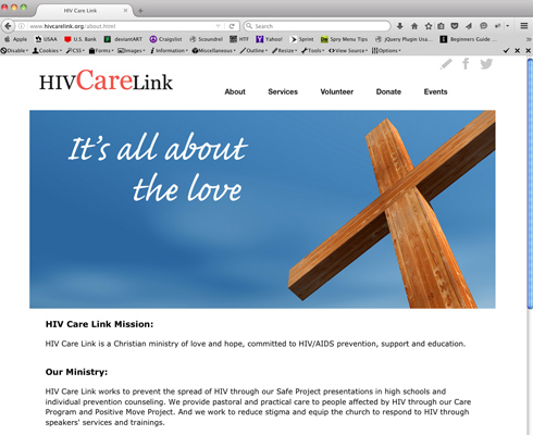 New, clean web design and creation for HIV CareLink.
